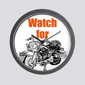 Watch for Motorcycles Wall Clock