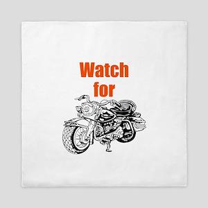 Watch for Motorcycles Queen Duvet