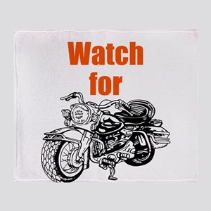 Watch for Motorcycles Throw Blanket