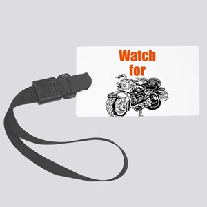 Watch for Motorcycles Luggage Tag