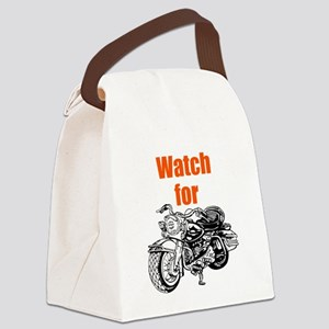 Watch for Motorcycles Canvas Lunch Bag