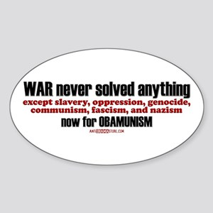 now for OBAMUNISM Oval Sticker