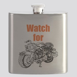 Watch for Motorcycles Flask