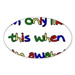 Like This Oval Sticker