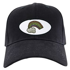 Vintage Smiling Cartoon Rainb Baseball Hat