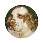Clumber Spaniel Ornament (Round)