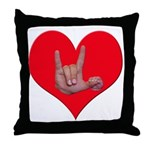 Mom and Baby ILY in Heart Throw Pillow