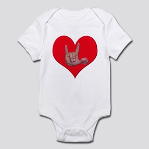 Mom and Baby ILY in Heart Infant Bodysuit