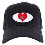 Mom and Baby ILY in Heart Black Cap