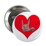 """Mom and Baby ILY in Heart 2.25"""" Button"""