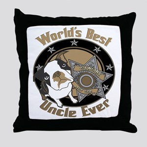 Top Dog Uncle Throw Pillow