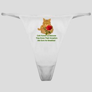 Cats Humor Us Classic Thong