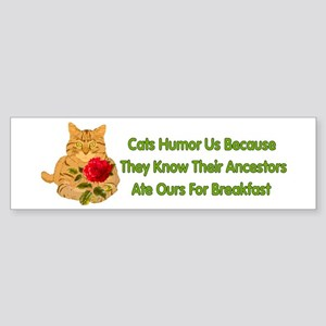 Cats Humor Us Bumper Sticker