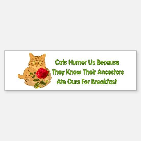 Cats Humor Us Bumper Bumper Bumper Sticker