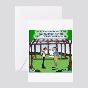 Environmentally Sound House Greeting Card