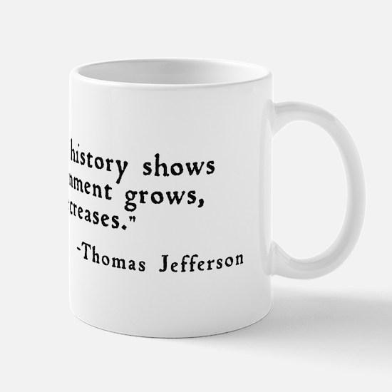 """""""... as a government grows ..."""" Mug"""