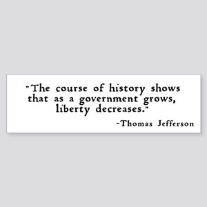 """... as a government grows ..."" Sticker"