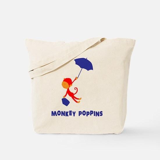 Monkey Poppins Tote Bag
