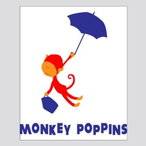 Monkey Poppins Small Poster
