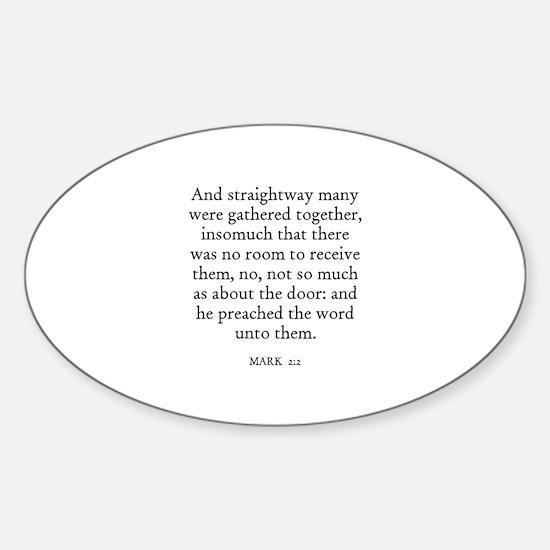 MARK 2:2 Oval Decal
