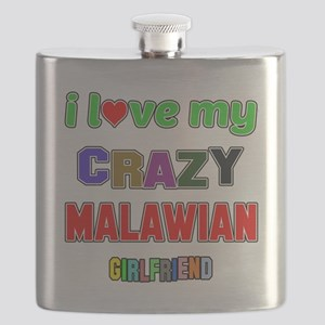 I Love My Crazy Malawian Girlfriend Flask