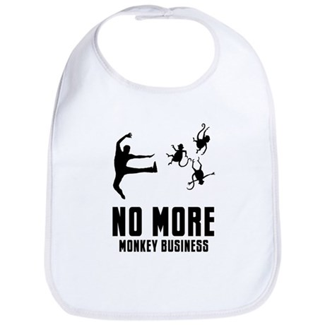 No More Monkey Business Bib