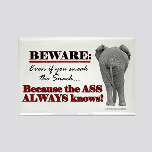 """The Ass Always Knows"" Fridge Magnet"