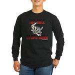 Bull Stops Here Long Sleeve Dark T-Shirt