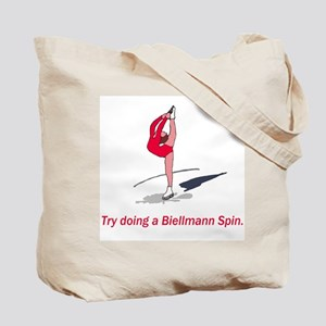 Try doing a Biellmann spin Tote Bag