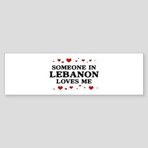Loves Me in Lebanon Bumper Sticker