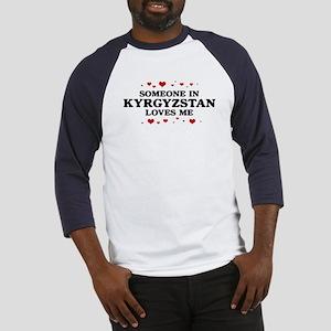 Loves Me in Kyrgyzstan Baseball Jersey