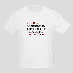 Loves Me in Detroit Kids Light T-Shirt