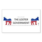 Looter Government Rectangle Sticker 50 pk)