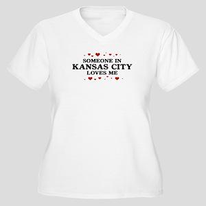 Loves Me in Kansas City Women's Plus Size V-Neck T
