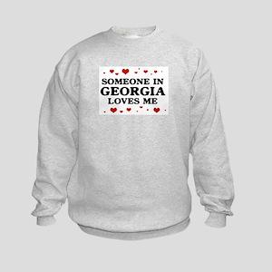Loves Me in Georgia Kids Sweatshirt