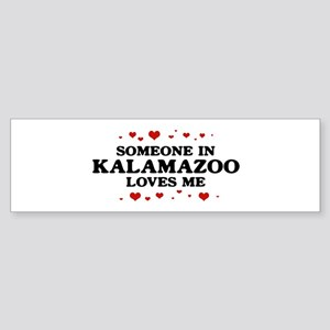 Loves Me in Kalamazoo Bumper Sticker