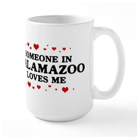 Loves Me in Kalamazoo Large Mug