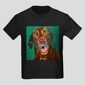 Chocolate Lab Kids Dark T-Shirt