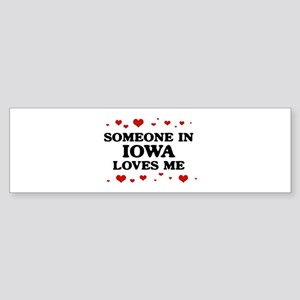 Loves Me in Iowa Bumper Sticker