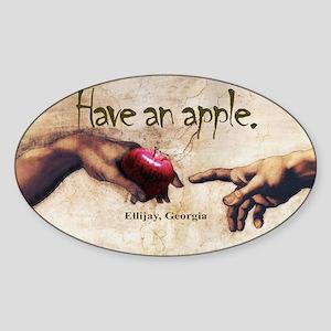 Have an Apple - Ellijay, GA Oval Sticker