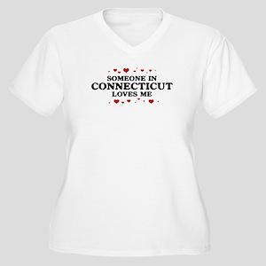 Loves Me in Connecticut Women's Plus Size V-Neck T