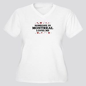 Loves Me in Montreal Women's Plus Size V-Neck T-Sh