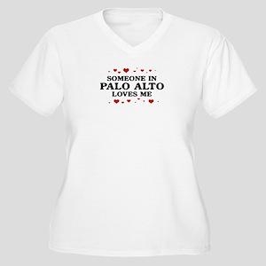 Loves Me in Palo Alto Women's Plus Size V-Neck T-S