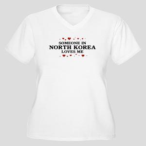 Loves Me in North Korea Women's Plus Size V-Neck T