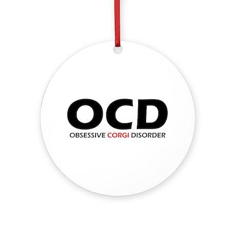 Obsessive Corgi Disorder Christmas Ornament