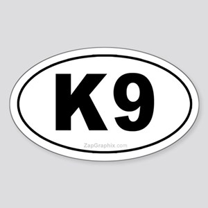 K9 Euro Oval Sticker