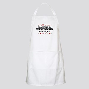 Loves Me in Wisconsin BBQ Apron