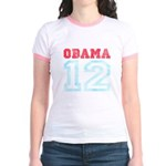 OBAMA 12 Jr. Ringer T-Shirt