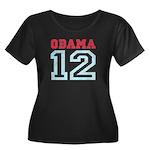 OBAMA 12 Women's Plus Size Scoop Neck Dark T-Shirt