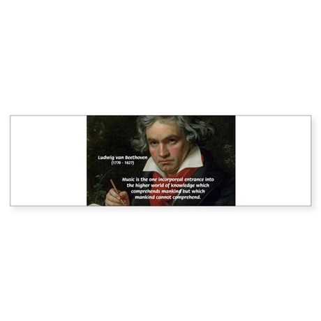 Classical Music: Beethoven Bumper Sticker
